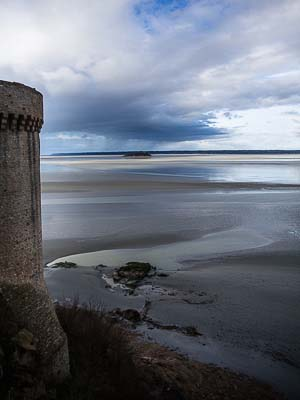 France - Mont St. Michel - Lookout to Tides