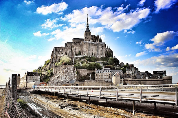 Mont St. Michel view from the Causeway
