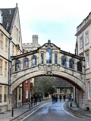 Oxford England - Bridge of Sighs