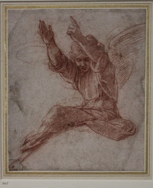 Angel Drawing by Raphael
