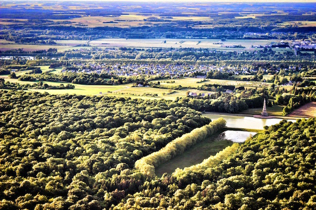 Breathtaking views over the Loire Valley in France.