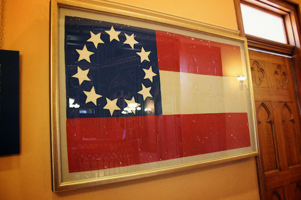 Baton Rouge Old State Capitol US Flag
