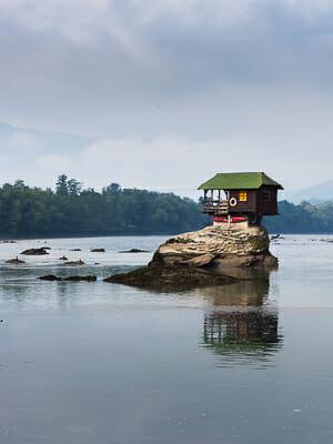 Serbia - Cabin in the River