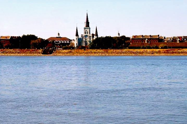 St. Louis Cathedral from the Mississippi River