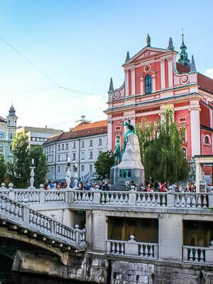 Ljubljana Slovenia City Square