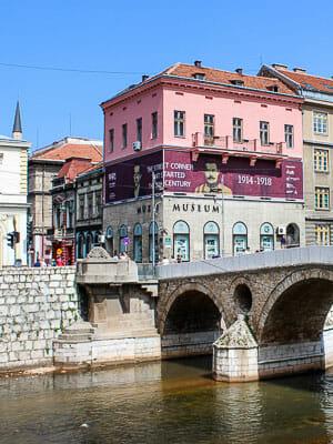 Bosnia & Herzegovina - Sarajevo - Corner Started WWI