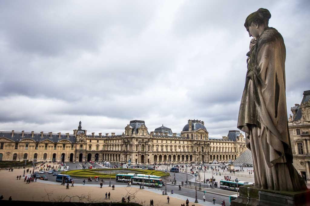 France Paris - View of Louvre