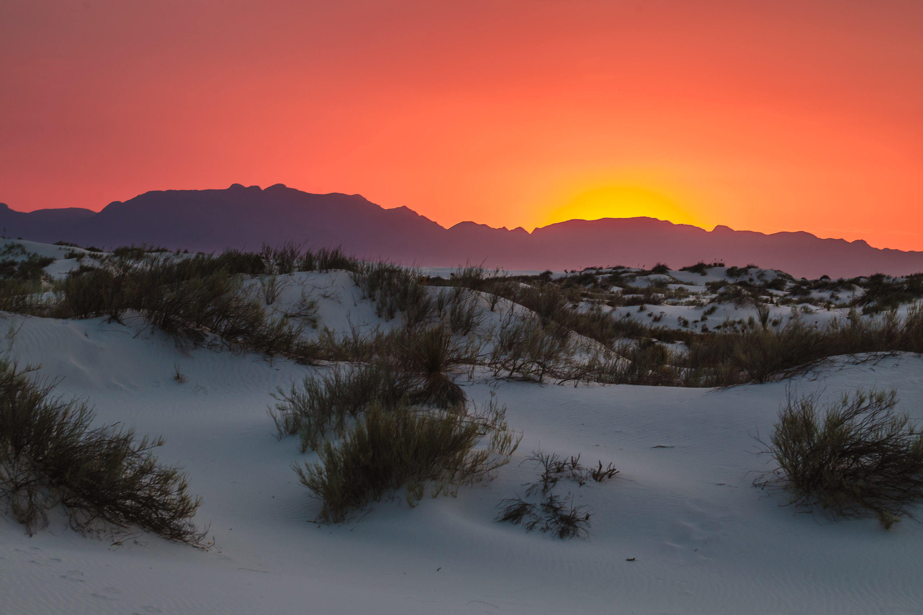 Ruidoso - New Mexico - Sunset at White Sands