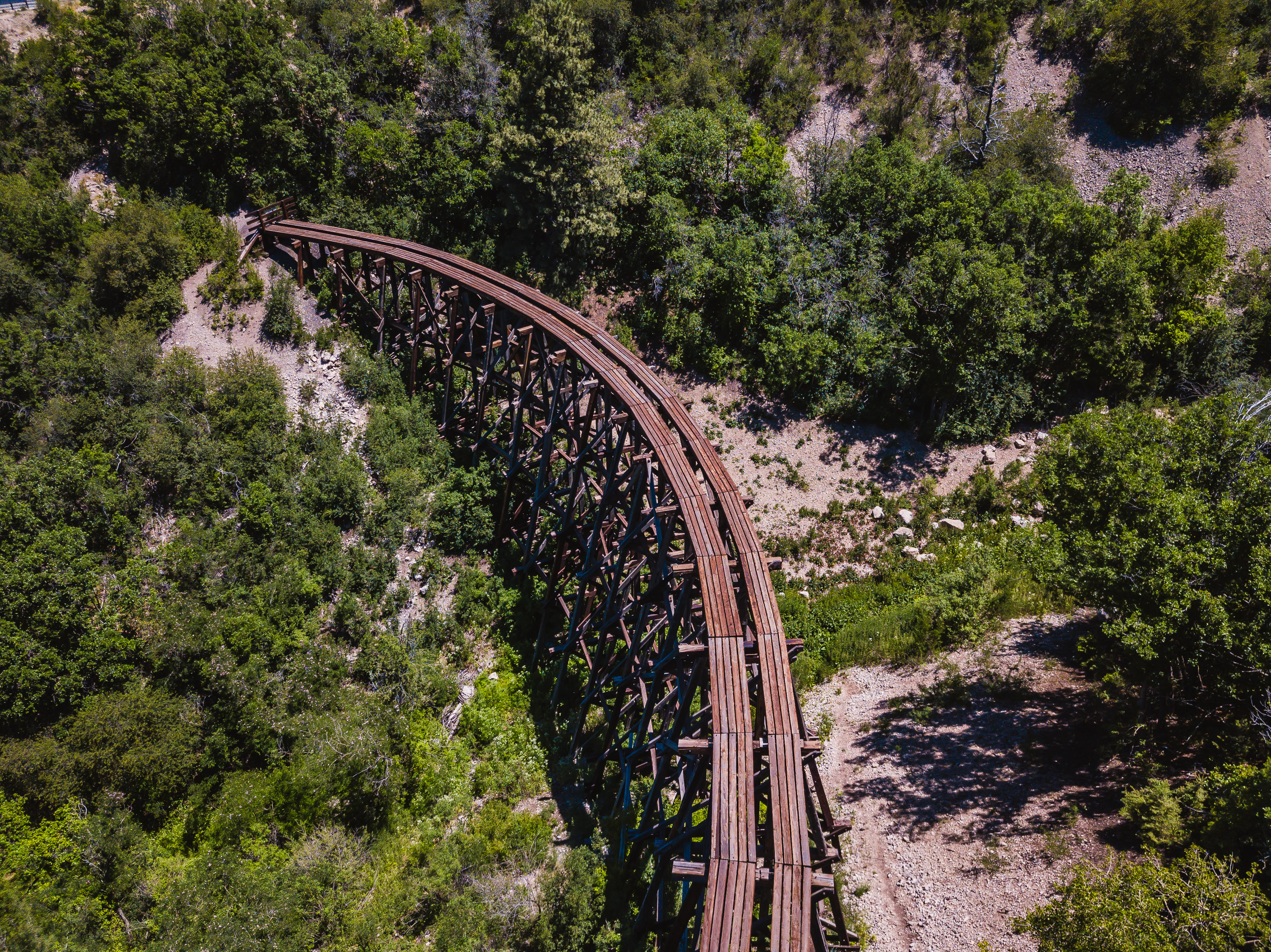 Ruidoso - New Mexico - Mexican Canyone Trestle by Drone