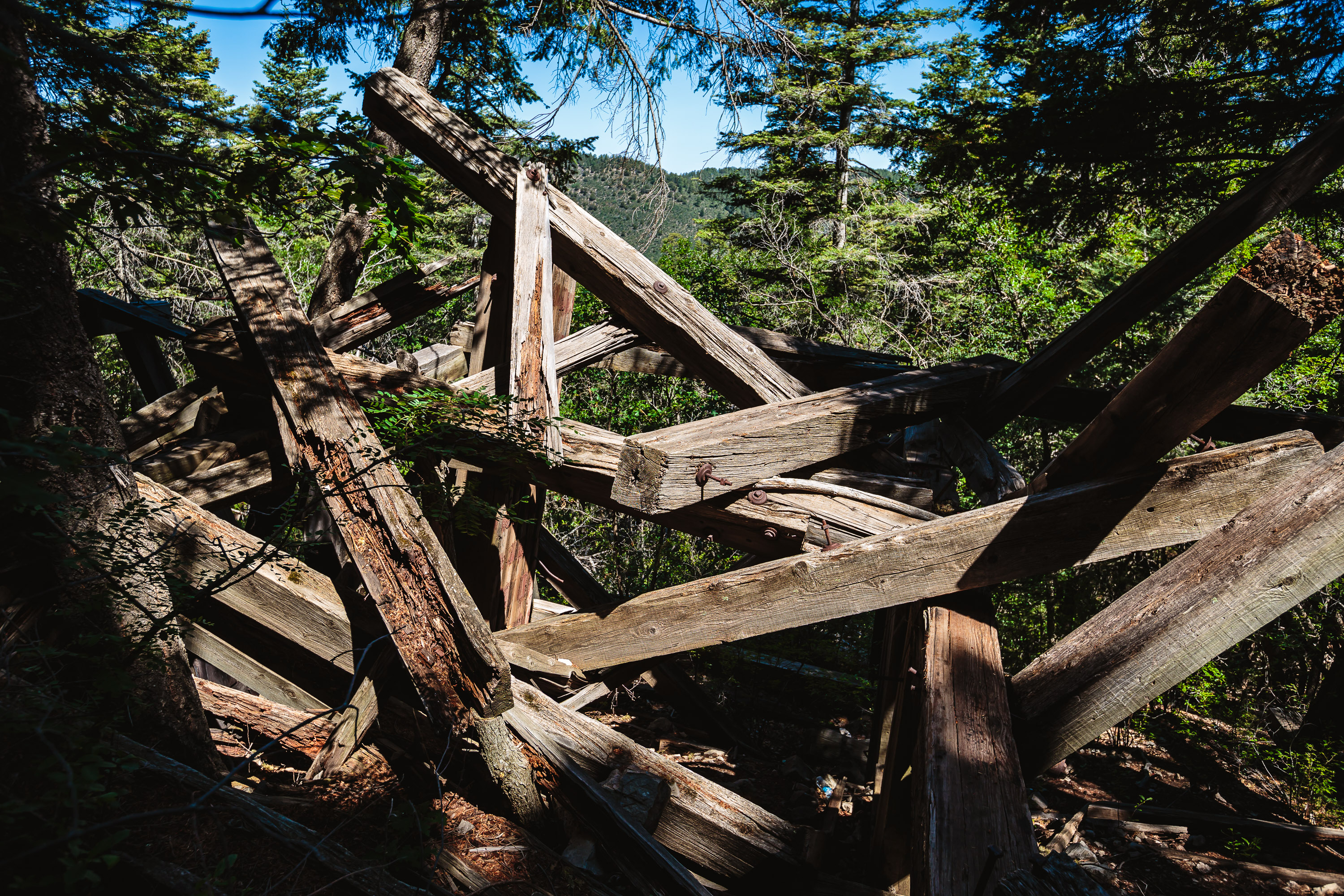 Ruidoso - New Mexico - Ruins at S Trestle