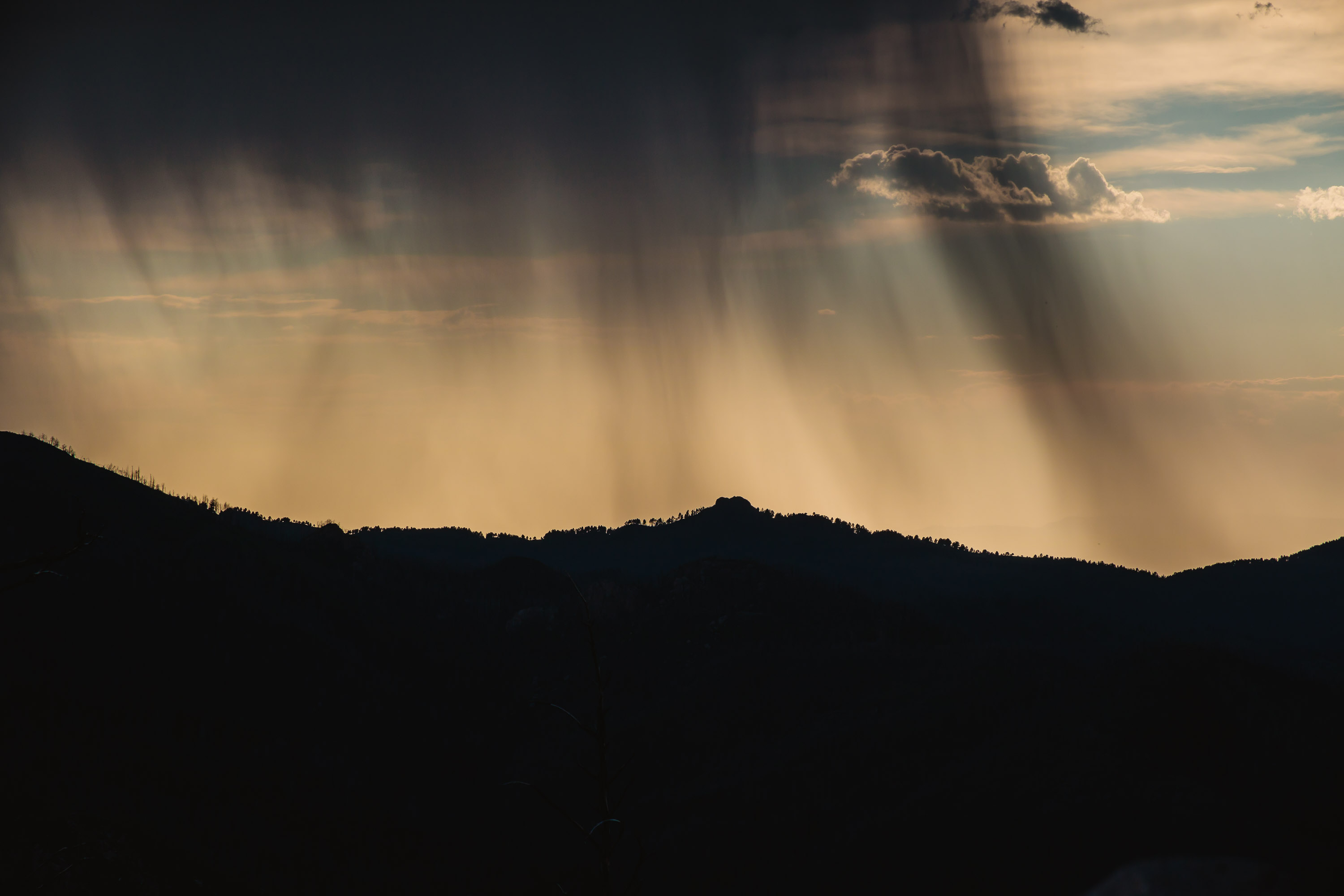 Ruidoso - New Mexico - Virga Over the Mountains