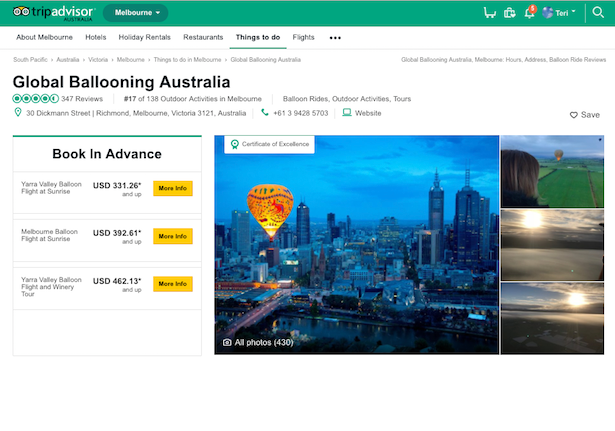 TripAdvisor Hot Air Ballooning - Melbourne