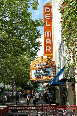 Santa Cruz Movie Theatre Sign