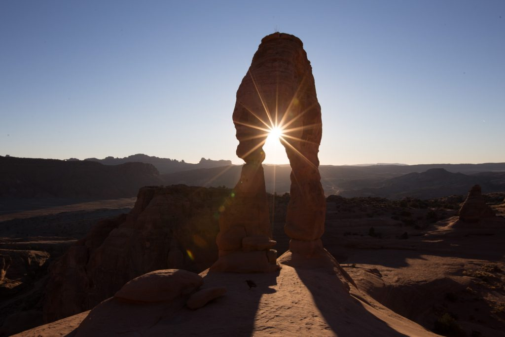 Utah Arches National Park - Delicate Arch -Sun Star