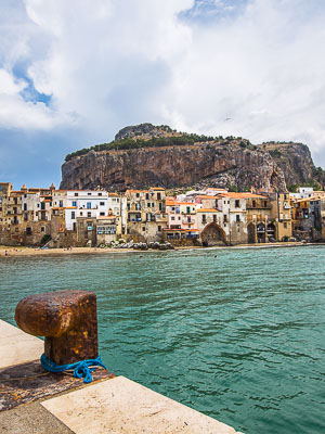 Italy - Sicily - Cefalu Pier View