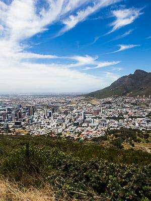 Cape Town View from Signal Hill of District Six