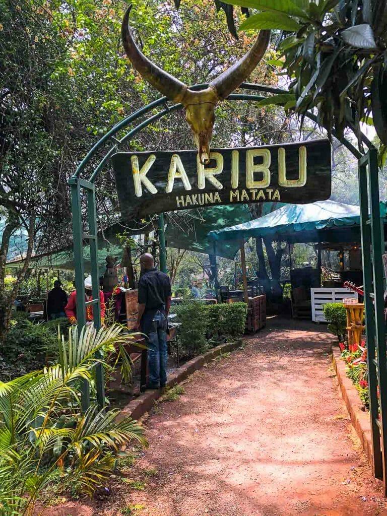 Swahili Language Sign - Karibu