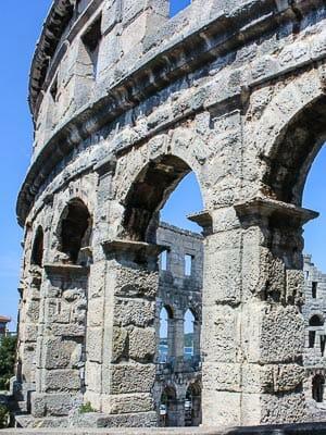 Gladiator Arena in Pula Croatia